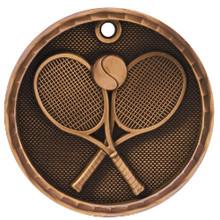 """2"""" Bronze 3D Tennis Medal"""