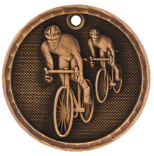 "2"" Bronze 3D Bicycling Medal"