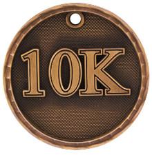 "2"" Bronze 3D 10K Medal"
