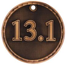 "2"" Bronze 3D Half Marathon Medal"