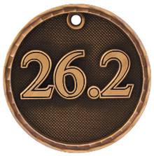 "2"" Bronze 3D Marathon Medal"