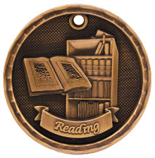 "2"" Bronze 3D Reading Medal"