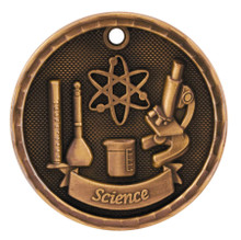 "2"" Bronze 3D Science Medal"