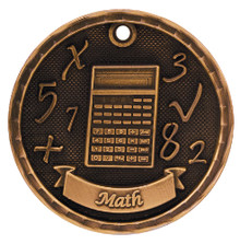 "2"" Bronze 3D Math Medal"