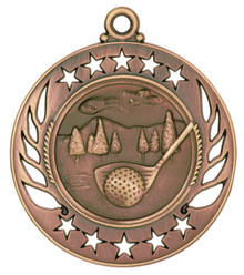 "2 1/4"" Bronze Golf Galaxy Medal"