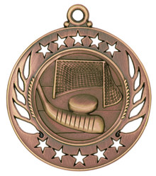 "2 1/4"" Bronze Hockey Galaxy Medal"