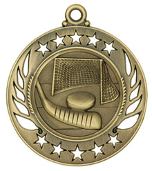 "2 1/4"" Gold Hockey Galaxy Medal"