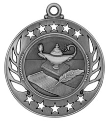 "2 1/4"" Silver Lamp of Knowledge Galaxy Medal"