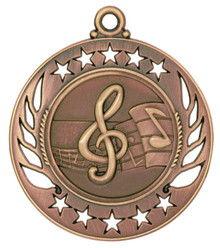 "2 1/4"" Bronze Music Galaxy Medal"