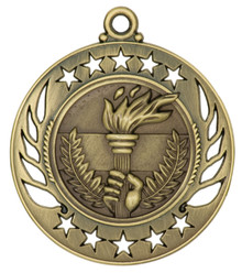 "2 1/4"" Gold Torch Galaxy Medal"