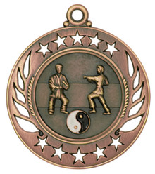 "2 1/4"" Bronze Martial Arts Galaxy Medal"