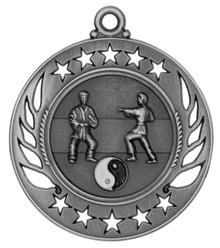 """2 1/4"""" Silver Martial Arts Galaxy Medal"""