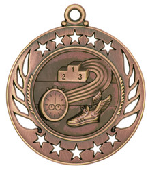 "2 1/4"" Bronze Track Galaxy Medal"