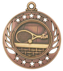 "2 1/4"" Bronze Tennis Galaxy Medal"
