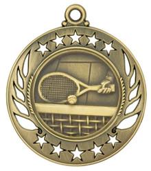 "2 1/4"" Gold Tennis Galaxy Medal"