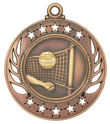 "2 1/4"" Bronze Volleyball Galaxy Medal"