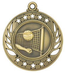 "2 1/4"" Gold Volleyball Galaxy Medal"