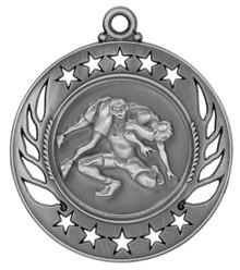 """2 1/4"""" Silver Wrestling Galaxy Medal"""