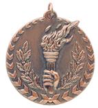 "1 3/4"" Bronze Torch Millennium Medal"