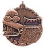 """1 3/4"""" Bronze Swimming Millennium Medal"""