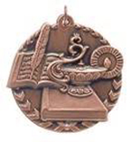 "1 3/4"" Bronze Lamp of Knowledge Millennium Medal"