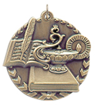 "1 3/4"" Gold Lamp of Knowledge Millennium Medal"
