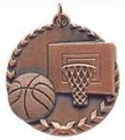 """1 3/4"""" Bronze Basketball Millennium Medal"""