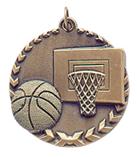 "1 3/4"" Gold Basketball Millennium Medal"