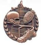 """1 3/4"""" Bronze Football Millennium Medal"""
