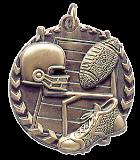 "1 3/4"" Gold Football Millennium Medal"