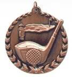 """1 3/4"""" Bronze Golf Millennium Medal"""