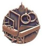 "1 3/4"" Bronze Gymnastics Millennium Medal"