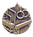 "1 3/4"" Gold Gymnastics Millennium Medal"