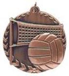 "1 3/4"" Bronze Volleyball Millennium Medal"