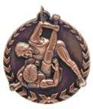 "1 3/4"" Bronze Wrestling Millennium Medal"