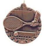"1 3/4"" Bronze Tennis Millennium Medal"