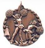 "1 3/4"" Bronze Cheer Millennium Medal"