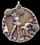 """1 3/4"""" Gold Cheer Millennium Medal"""