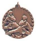"1 3/4"" Bronze Karate Millennium Medal"