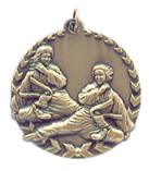 "1 3/4"" Gold Karate Millennium Medal"