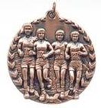 "1 3/4"" Bronze Cross Country Millennium Medal"