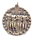 "1 3/4"" Gold Cross Country Millennium Medal"