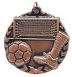 """1 3/4"""" Bronze Soccer Millennium Medal"""