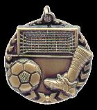"1 3/4"" Gold Soccer Millennium Medal"