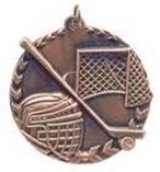 "1 3/4"" Bronze Hockey Millennium Medal"