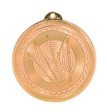 "2"" Bronze Archery Laserable BriteLazer Medal"