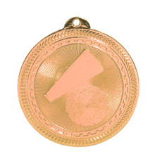 "2"" Bronze Cheer Laserable BriteLazer Medal"