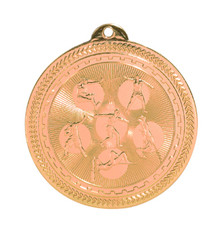 "2"" Bronze Field Events Laserable BriteLazer Medal"