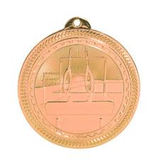 "2"" Bronze Gymnastics Laserable BriteLazer Medal"