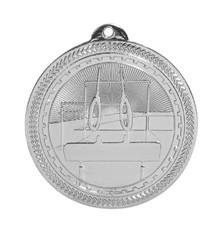 "2"" Silver Gymnastics Laserable BriteLazer Medal"